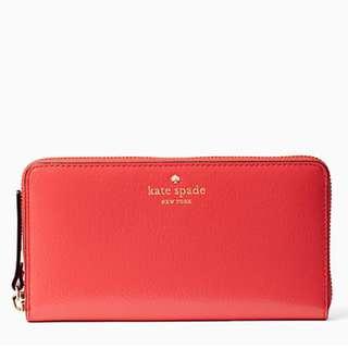 全新 Kate Spade New York Grand Street Lacey Leather Wallet 銀包 真品