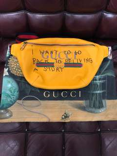 Gucci Coco Capitan  Belt Bag YELLOW waist bag used extremely rare
