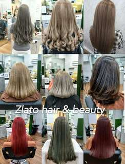Hair color /hair softening