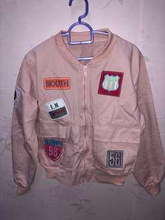 Badges bomber jacket