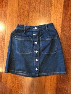 Highwaisted Denim Skirt