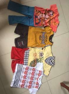 Boys preloved clothes fit 4-8 yrs old.. take all..