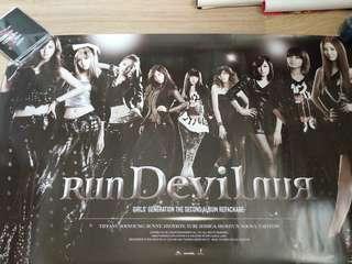 少女時代 run devil run 官方團體海報 poster snsd