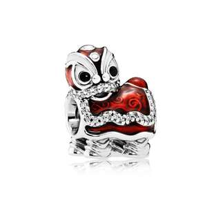 Authentic Pandora Charm Chinese Lion Dance Charm Red Pendant Italy Sterling Silver 92.5 (CHARMS ONLY)