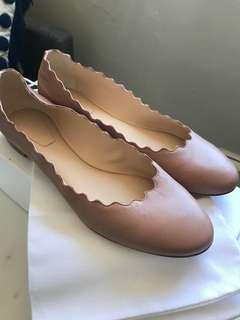 Chloe Nude Pink Flats Size 40