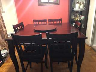 8 piece dining table