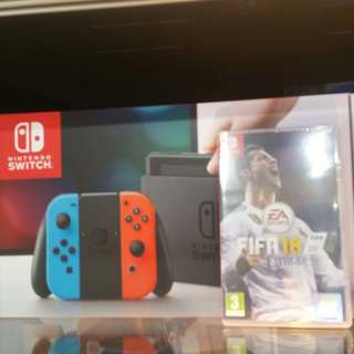 Nintendo switch with Fifa 18