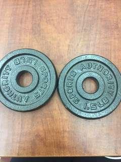 1.25 lb dumbbell plates
