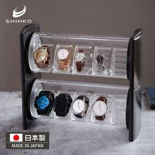 Shinko日本进口手表首饰收纳盒整理盒 手表收藏盒子5表位展示盒