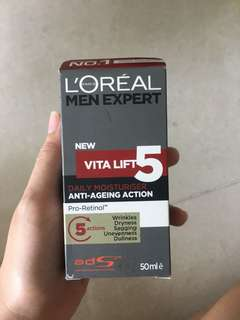 L'Oréal Men Expert New Vitalift 5 Anti-Ageing Action Daily Moisturizing