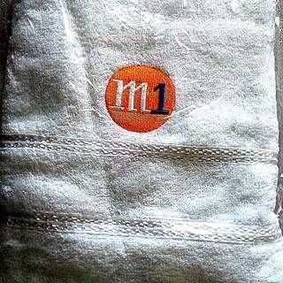 M1 White Bath Towel