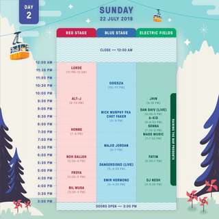 LOOKING FOR 1 DAY PASS ON SUNDAY ONLG
