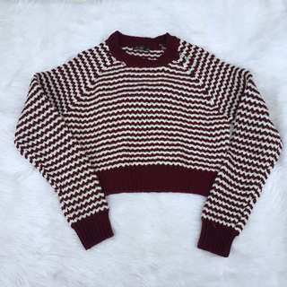 CHIC-A-BOOTI knitted crop top sweater