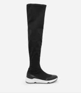 Charles and Keith Knee High Sneakers Boots