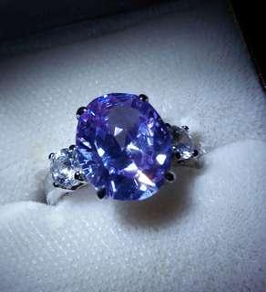 超級閃水晶戒指 925 特價平售