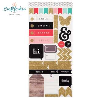 🚚 ★Sticker★ Jen Hadfield Cardstock Stickers, Phrases, Icons, Symbol Homemade Collection