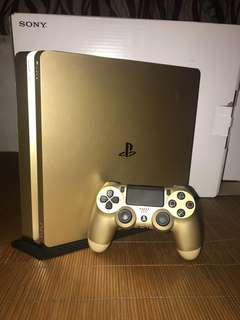 Ps4 slim 1TB gold edition bundle