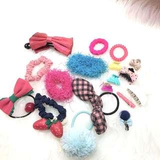 Garage sale! Hair accesories ( 5 @15.000 ) + Free sticker nail art / bross