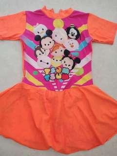 Baju Renang Tsum tsum orange