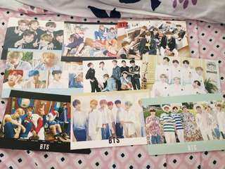 BTS Photo Cards and Stickers