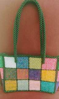 Handmade Multi colour beads Handbag Sale *$40