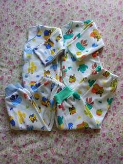 4pcs Setelan baju bayi libby newborn tangan kaki panjang