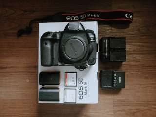 5d mark IV with warranty & accessories