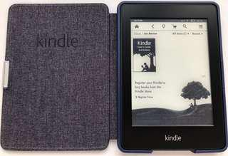 """Kindle Paperwhite 6"""" High-Res, build-in light, Wi-Fi with Amazon Leather Cover"""