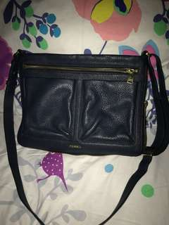 fossil bags navy original preloved