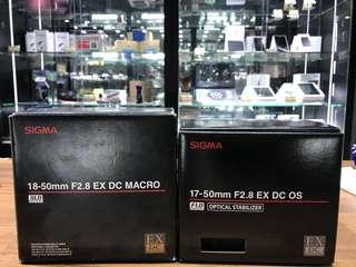 🚚 曙光數位 SIGMA 17-50mm & 18-50mm