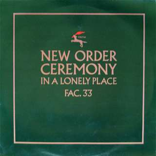 """12"""" New Order - Ceremony (1981)"""