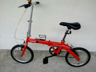 "Foldable bicycle VALO NOVA 2.0  red 16"",wheel"