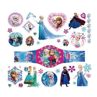 Frozen party supplies - Frozen party tattoo / goodie bag inserts / party gifts