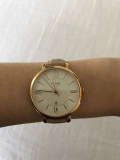 FOSSIL rose gold/blush pink watch