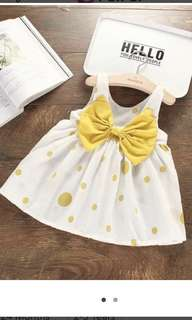 Cute Big Bow Polka Dots Sleeveless Dres