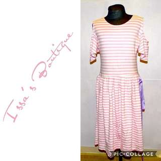 Baby Pink striped dress