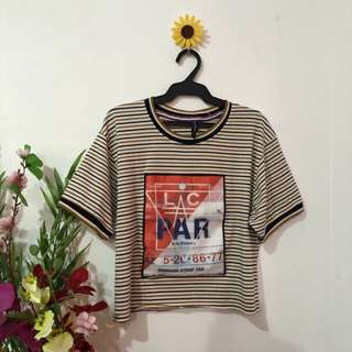 Yellow Stripes Classic Cropped Top
