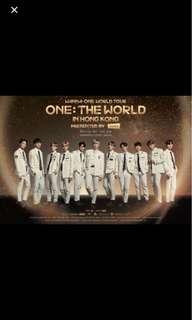 Wanna One 演唱會 29/7 580連位