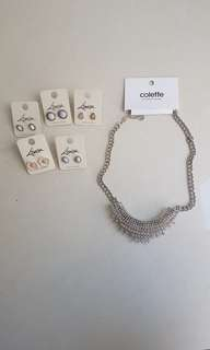 Colette and Lovisa necklace and earrings