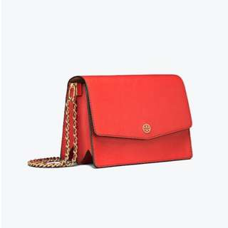 Tory Burch Leather Red Shoulder Bag