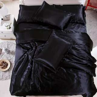 🎊 Promo Silk Fitted Bedsheet Set