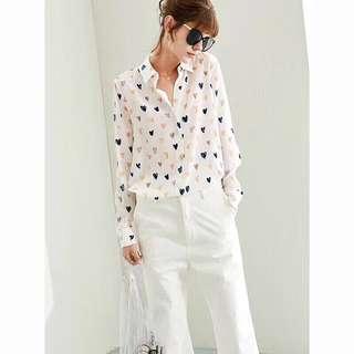 BN authentic equipment silk blouse