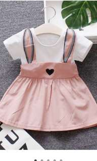 Super Cute Faux-two Rabbit Dress