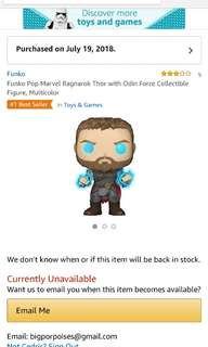 Thor with odin force Funko POP SDCC exclusive