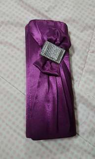 Perlinni Purple Clutch