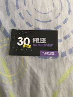 Anytime Fitness 1 month membership gift card