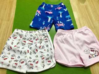 Baby shorts Hello kitty and Carters brand