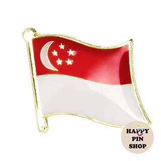 [IN STOCK] Singapore Flag pin - get yours for National Day!