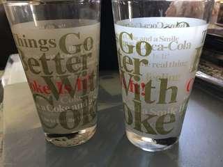 經典可口可樂高級玻璃杯,收藏的珍品