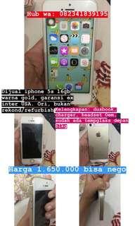 Iphone 5s gold ori, garansi ex inter USA